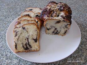 Сдобный хлебец с шоколадно-маковой начинкой
