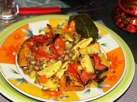 Запеченные овощи с гречей «Краски осени»