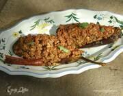 Баклажаны, фаршированные бараниной и кедровыми орехами