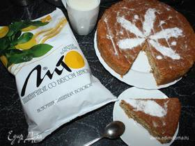 Пирог «Праздник сладкоежки» с отрубями и грушами
