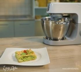 Лазанья с сыром и шпинатом