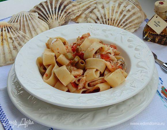 Паста «Каламарата» с рыбным соусом