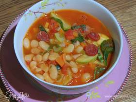 Зимний фасолевый суп