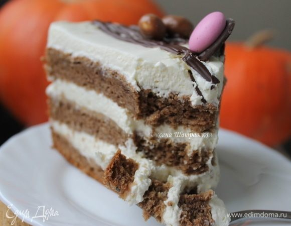 Торт «Карамельно-шоколадная тыковка»