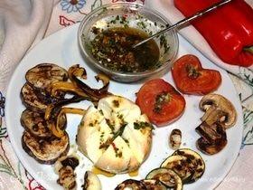 Ароматное масло к моцарелле и овощам-гриль