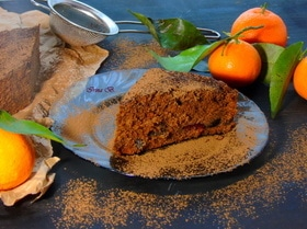 Шоколадный пирог с черносливом