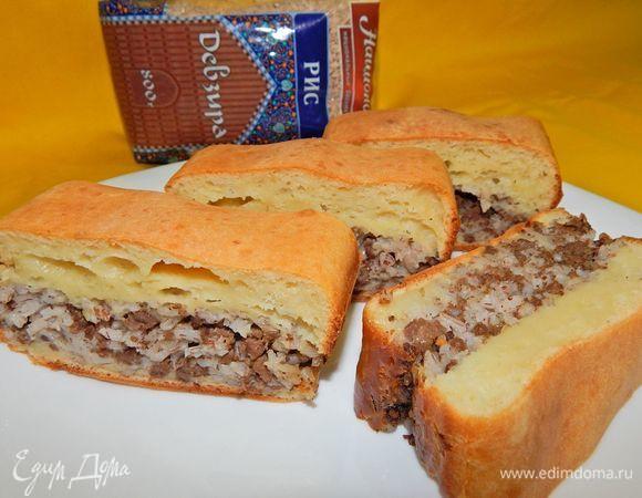 Очень вкусный пирог с семгой заливной и рисом — pic 6