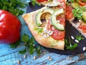 Пицца с авокадо и семечками