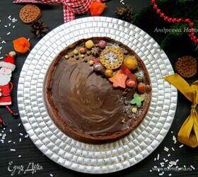 Шоколадно-каштановый тарт