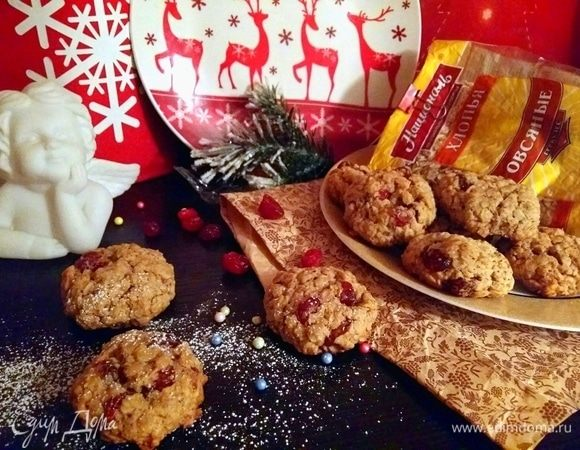 Ореховое печенье с геркулесом