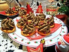 Фасолевый паштет на томатных крекерах