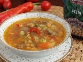 Суп с бараниной и нутом
