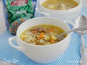 Суп с бараниной и машем