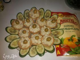 Тарталетки с рыбным салатом