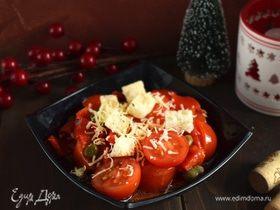 Салат из помидоров и маринованных перцев