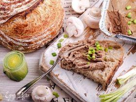Запеченный печеночный паштет с грибами