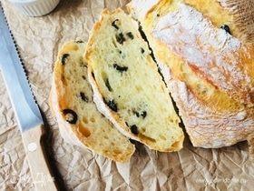 Домашний хлеб с розмарином и оливками