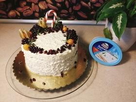 Зимний шоколадный торт