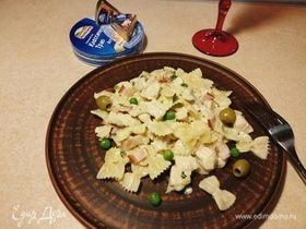 Паста фарфалле в сырном соусе