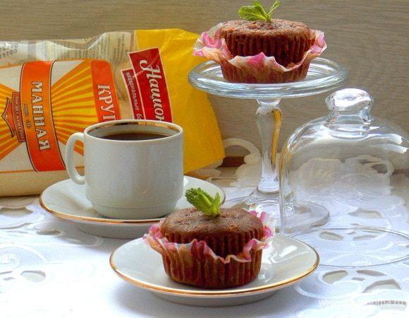 Маффин-манник «Шоколад в шоколаде»