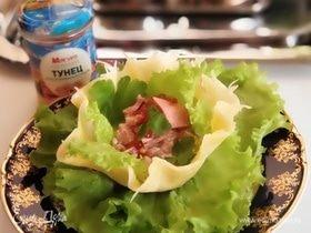 Сырные корзиночки с салатом из тунца