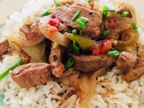 Томленое мясо с овощами