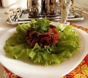 Гречневая лапша (соба) с говядиной и овощами