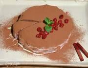 Блинный торт «Черный лес»
