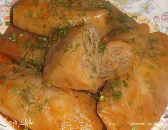 Голубцы с куриной печенью