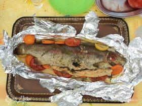 Рыба в собственном соку на углях
