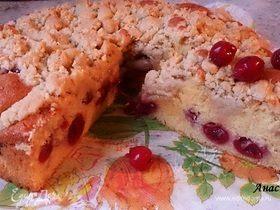 Вишневый пирог с посыпкой (штрейзель)