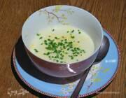 Взбитый суп из топинамбура со сливками и сыром