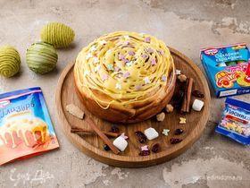 Пирог «Пасхальный цветок» с корицей