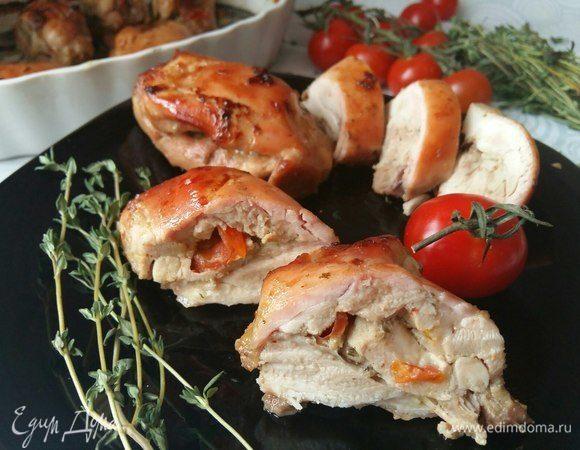 Куриные бедрышки в маринаде с песто