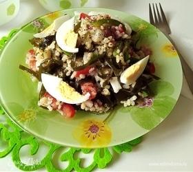 Салат с булгуром и морской капустой