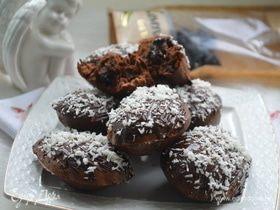 Шоколадные кексы с черносливом