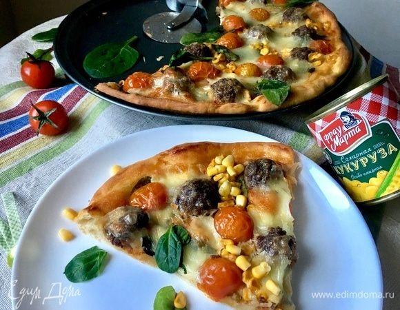 Пицца «Весна» с мясными шариками