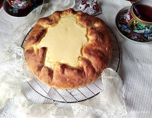 Бездрожжевой пирог с творожной начинкой