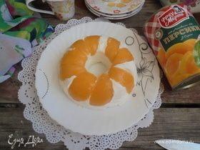 Персиково-творожный десерт