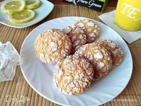 Лимонно-кокосовое печенье с трещинками