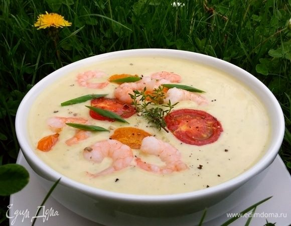 Крем-суп из цукини с фетой