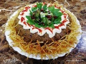 Запеканка из печени с фасолью