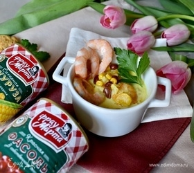 Тайский суп с креветками и овощами