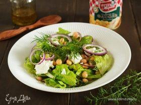 Салат в греческом стиле с фасолью