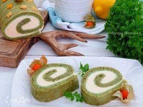 Мятный рулет с лимонным суфле
