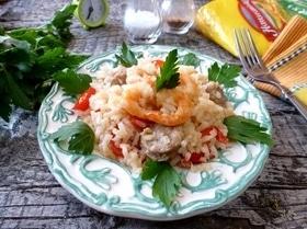 Рис с креветками по-креольски