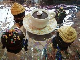 Шоколадный капкейк в чашке