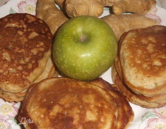 Оладьи яблочно-имбирные