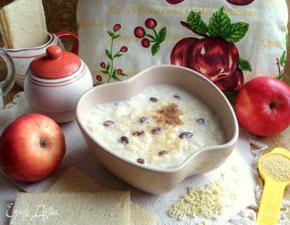 Ванильно-молочный суп с кускусом