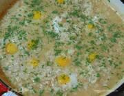 Ризотто с перепелиными яйцами и копченым салом